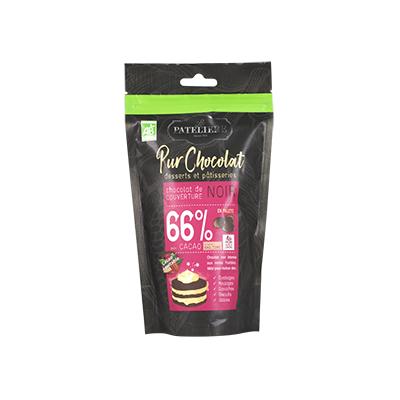 Organic Fair Trade Dark Chocolate Palets 66% - Cocoa origin Sao Tome 200g