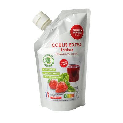 Ambiant Strawberry Coulis, 500g doypack