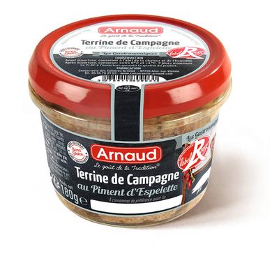 Terrine de Campagne Label Rouge au Piment d'Espelette 180 g  / ARNAUD, Le Goût de la Tradition