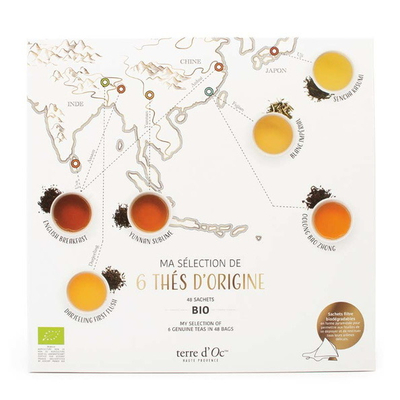 GIFT SET OF 6 ORGANIC TEAS  - SINGLE ORIGIN TEA COLLECTION
