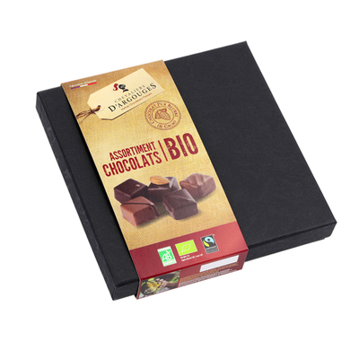 Prestige Box - Assortment of 37% milk and 72% dark Chocolates 155g - Organic & Fairtrade
