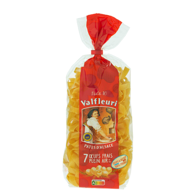 VALFLEURI Pâtes d'Alsace Nests 10mm 250g Egg pasta made with 7 fresh free-range eggs