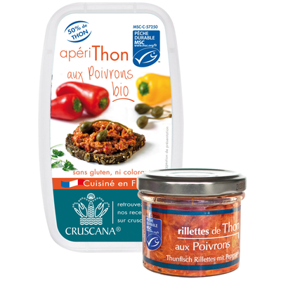 MSC tuna rillettes with organic vegetables