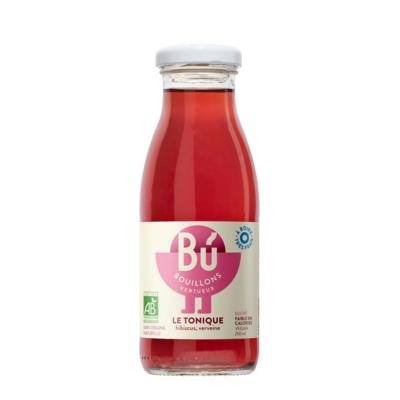 Le Tonique - Bouillon d'hibiscus, verveine bio 25cl  / The TONIC - Organic hibiscus and verbena broth 25cl