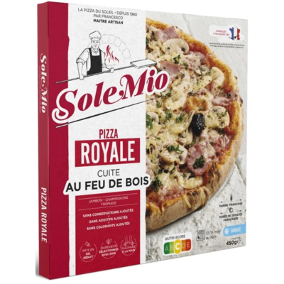 Royale pizza 450 G SOLE MIO wood-fired frozen
