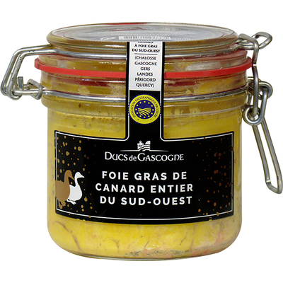 Whole duck foie gras from South West of France 205g