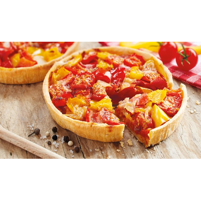 Tarts with tomatoes