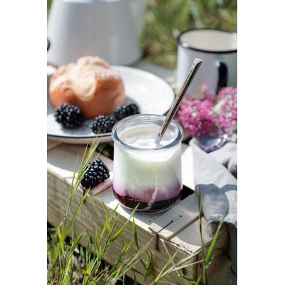 Stirred Yogurts on generous fruit layer