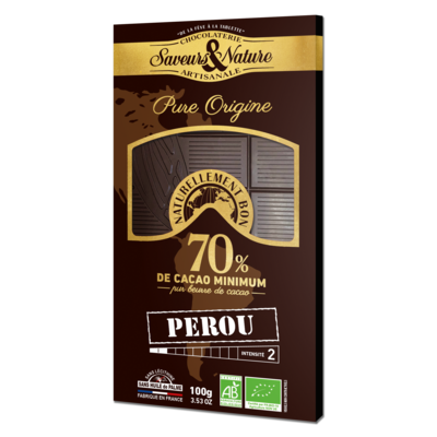 70% cocoa dark chocolate - Single Origin Peru