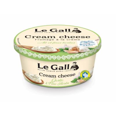 Le Gall garlic & herbs flavored spreadable cream cheese 150g