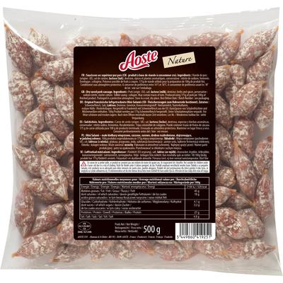 Dry sausage sticks and bites 500g - AOSTE FOOD SERVICE