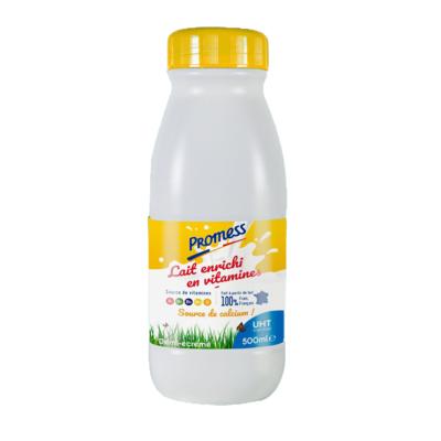 UHT Semi-skimmed vitaminized milk_500ml Bottles & 1L/200ml Bricks