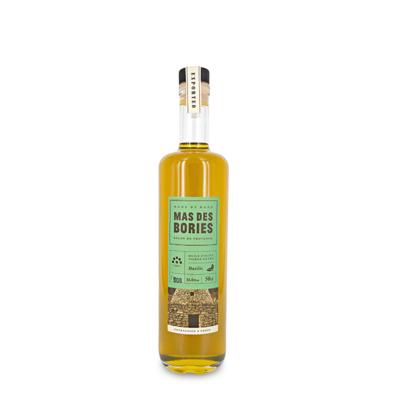 Extra virgin olive oil, Basil-infusedm glass bottle 50cl