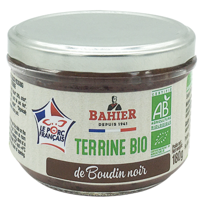 Organic black pudding terrine 180g