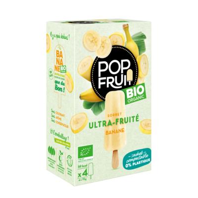 PopFruit Organic BANANA frozen sorbet pops