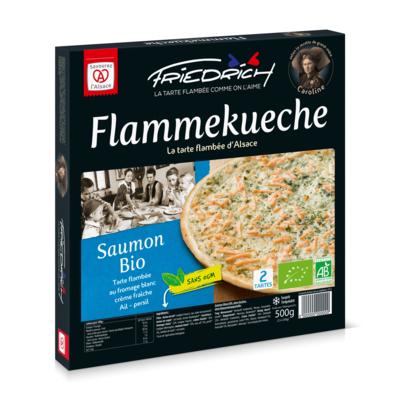 TARTE FLAMBEE BIO AU SAUMON 2x250gr (saumon fumé/ail/persil)