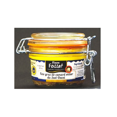 Canned cooked foie gras