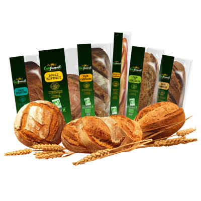 Organic sourdough breads for off-station baking and in-store bakeries