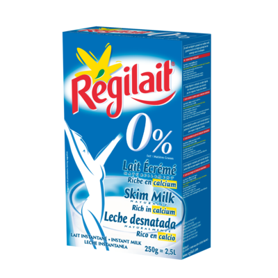 Skimmed milk powder REGILAIT brand  250g Cardboard box