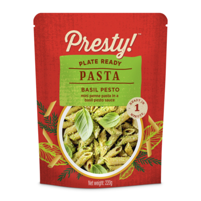 Presty! Ready-to-eat-meal Pasta in sauce