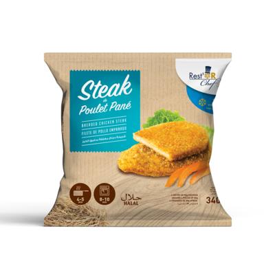 Breaded chicken steak 340g