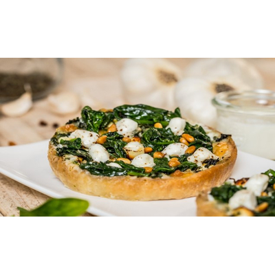 Tarts with green vegetables