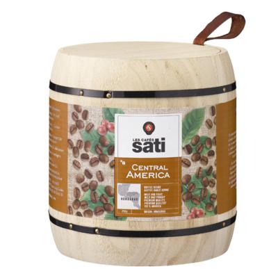 Café Sati wooden barrel Central America UTZ coffee beans 250g