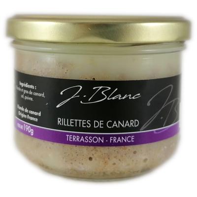 Duck rillettes, glass jar 190g