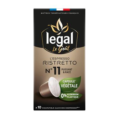 Nespresso® Compatible vegetal capsules L'ESPRESSO RISTRETTO - intensité 11 - 10 capsules box