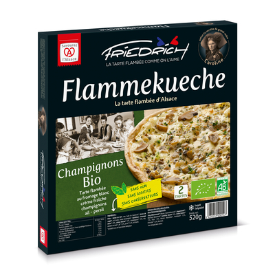 TARTE FLAMBEE BIO AUX CHAMPIGNONS 2x260gr (champignon/ail/persil)
