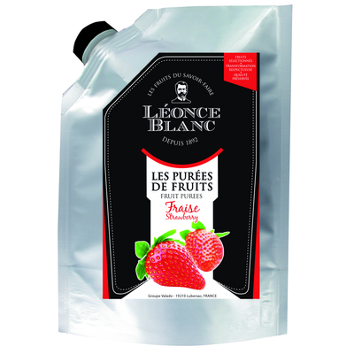 Ambient strawberry puree in a 1 kg pouch   LEONCE BLANC