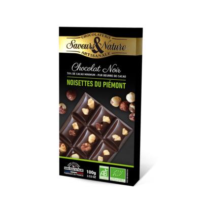 70% cocoa dark chocolate - Whole hazelnuts