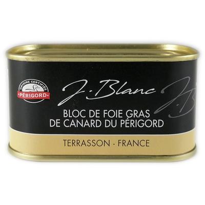 Duck foie gras block, tin 200g
