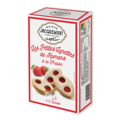 Mini Lunettes de Romans strawberry jam filling