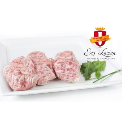 Frozen crepinette sausage 8x140g