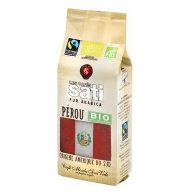 Café Sati Peru Paraiso Inca organic fairtrade coffee ground 250g