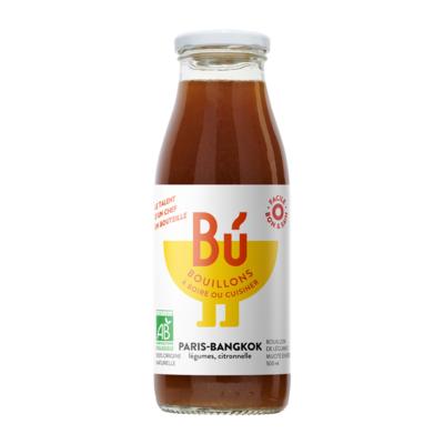 Paris-Bangkok - Bouillon de légumes citronnelle Bio 50cl / Paris-Bangkok - Organic vegetable and lemongrass broth 50cl