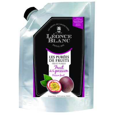 Ambient passion-fruit  puree in a 1 kg pouch   LEONCE BLANC
