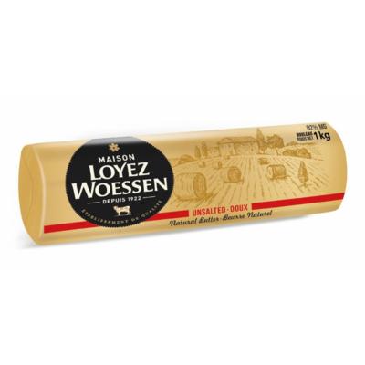 Maison Loyez Woessen rouleau 1 kilo doux ou 1/2 sel