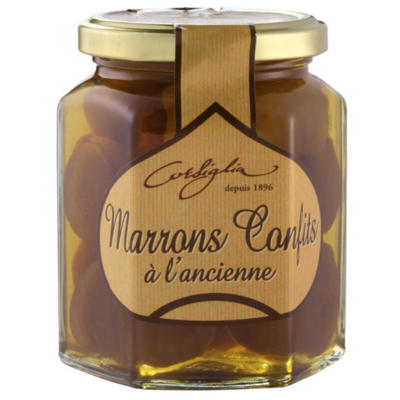 Traditional candied chestnuts in syrup - Jar