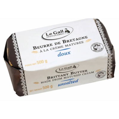 Unsalted butter made with matured cream from Brittany Le Gall Pro mold 500g
