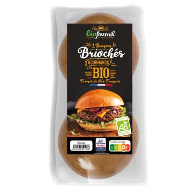 Organic Gourmet Brioche Burger Buns