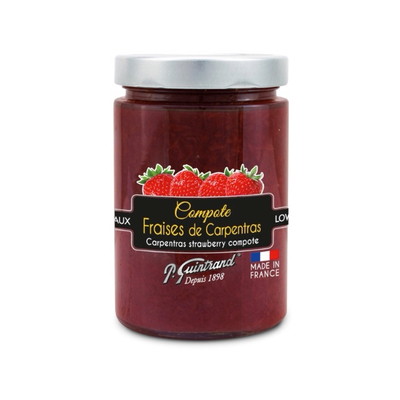 Carpentras strawberry compote - low sugar- 327 ml - P. Guintrand