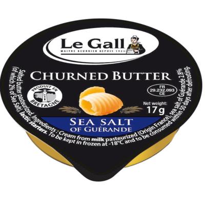 Churned butter with salt of Guérande Le Gall Aluminium dish 17g