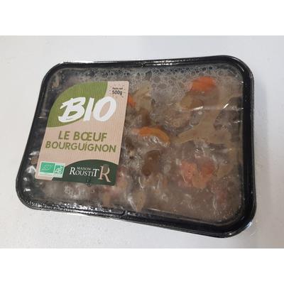 Organic beef bourguignon
