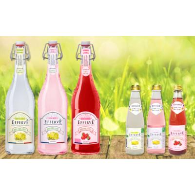EFFERVÉ Organic French Sparkling Lemonade  750mL & 330mL
