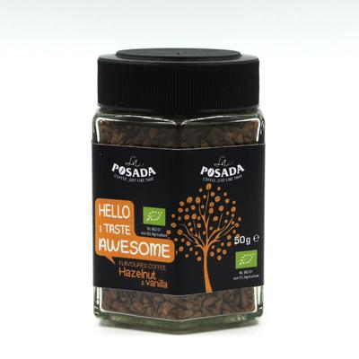 La Posada Organic Instant Coffee Hazelnut and Vanilla Flavour (50g)