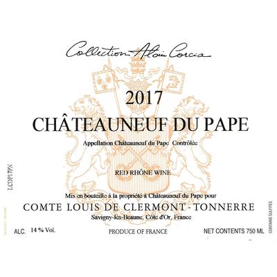 Comte Louis de Clermont Tonnerre chateauneuf du Pape