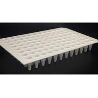 96-well qPCR Plates, 100 microl, White, Non-Skirted, Cut Corners A12 and H12 - Prix soumis à évolution