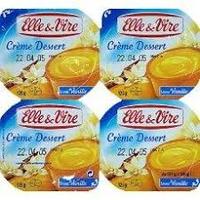 Creme Dessert Vanille E&V 125 Gr Paquet X 4 Pieces  cat.1